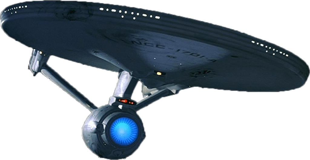 Starship Enterprise Bottom transparent PNG.