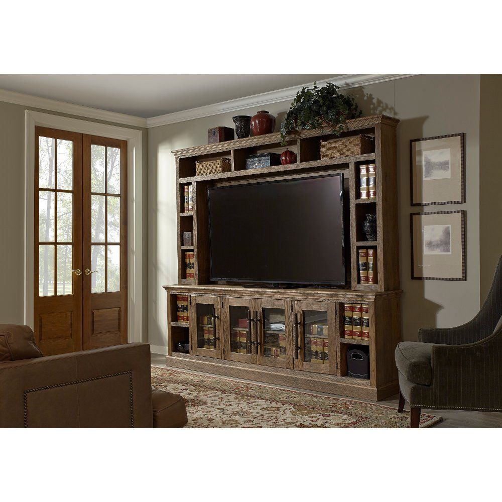 Natural Brown 2 Piece Classic Entertainment Center.