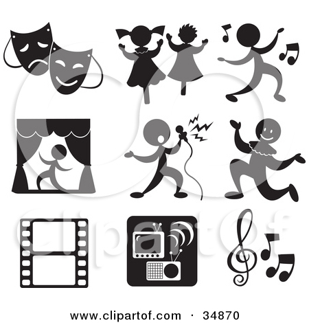 Musical entertainment clipart.