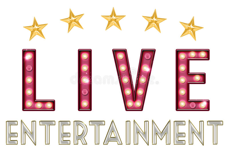 Entertainment Live Stock Illustrations.
