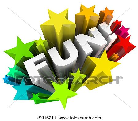 Fun Word Stars Starburst Entertainment Amusement Clip Art.