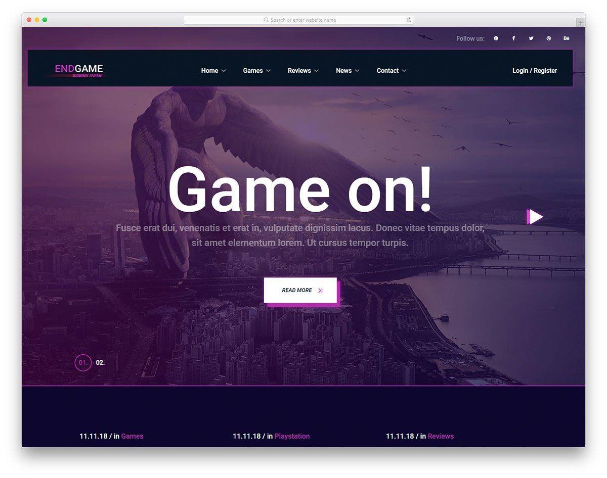 Endgame Website.