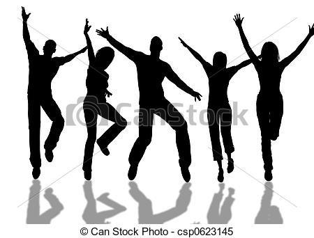 Enthusiastic people clipart.