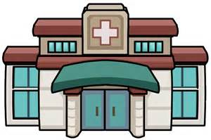 Medical Clinic Building Clip Art, Clinic Entrance furniture icon.