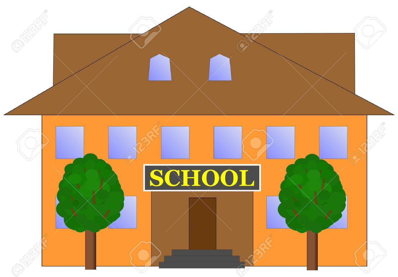 School Building Vector Illustration Royalty Free Cliparts, Vectors.
