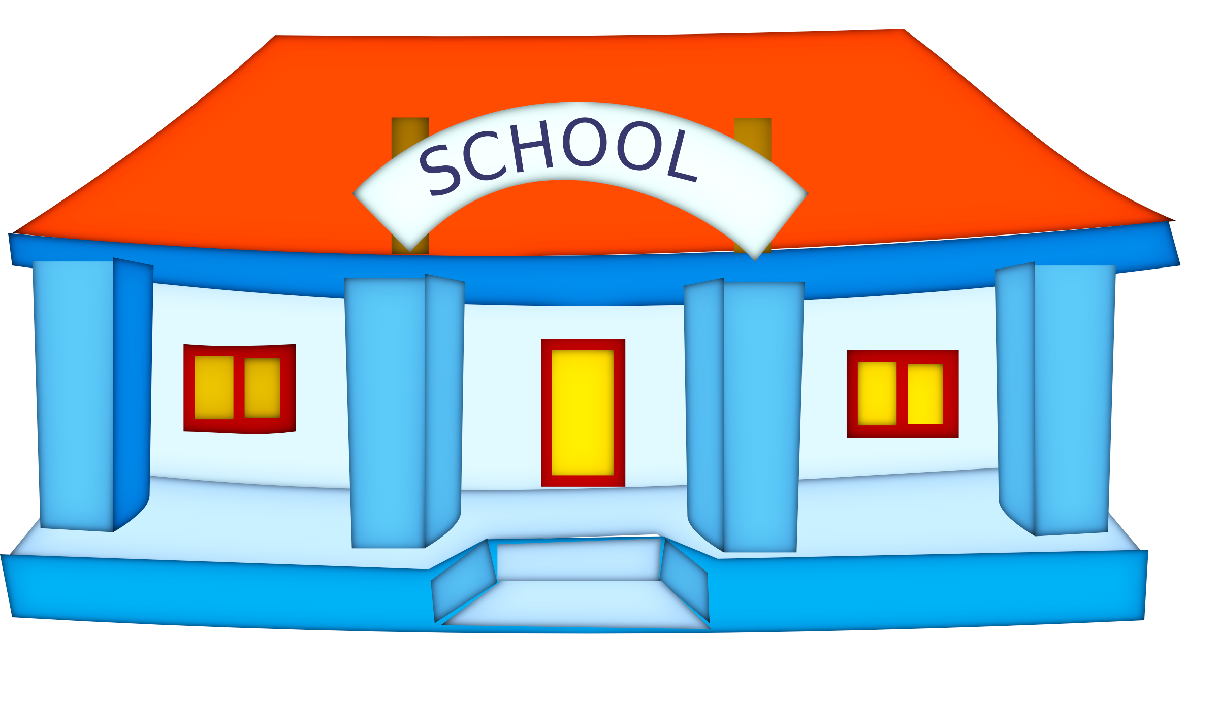 Entrance to school clipart.