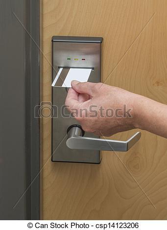Swipe key card clipart.