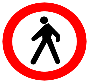 No Entrance Sign clip art Free Vector / 4Vector.