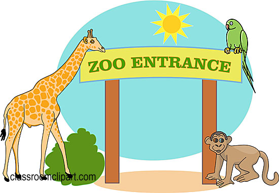 Zoo entrance clip art.