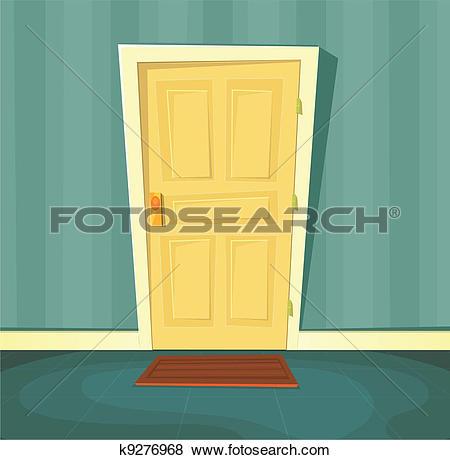 Clip Art of Cartoon Front Door k9276968.