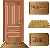 Front door Clip Art Vector Graphics. 6,783 front door EPS clipart.