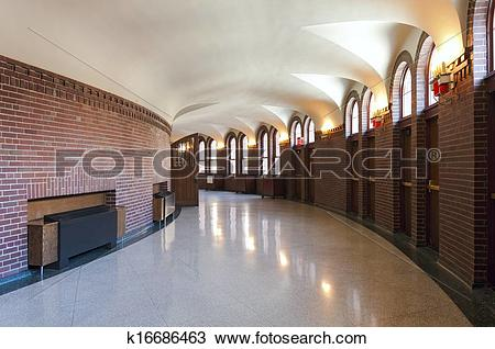 Stock Photo of Church Foyer and Entrance k16686463.