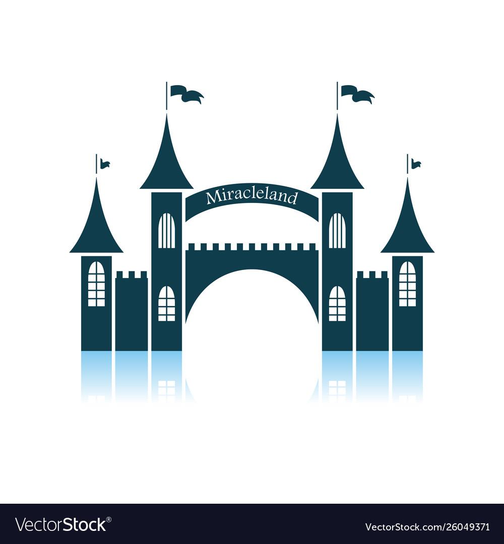 Amusement park entrance icon.