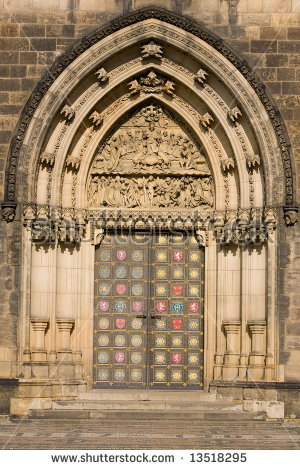 Gothic Entrance Portal St Peter Paul Stock Photo 12184489.
