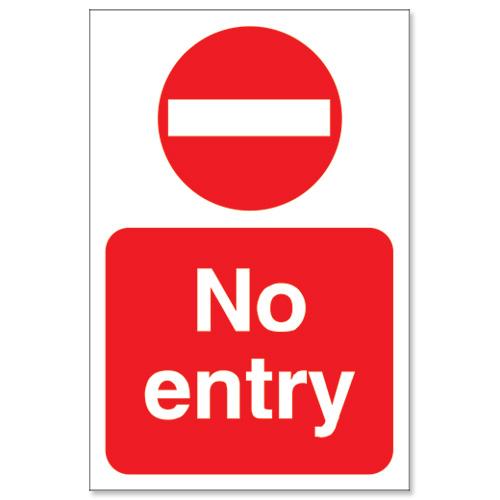 No Entrance Signs.
