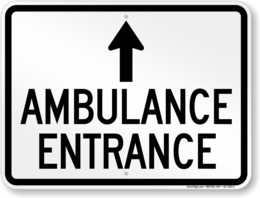Download ambulance entrance sign clipart Hospital Signage Clip art.