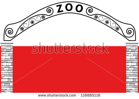 Zoo Gate Clipart.