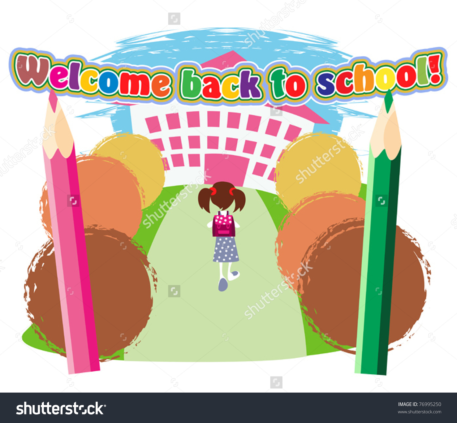 School entrance gate clipart.
