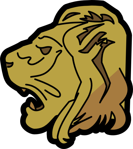 Cute Lion Head Clipart.