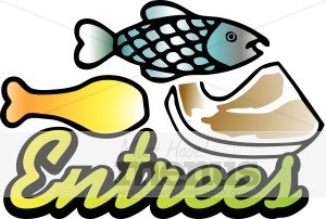 Meat Entree Clipart.