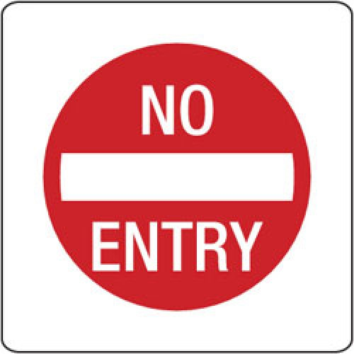 No Entry Sign Image.