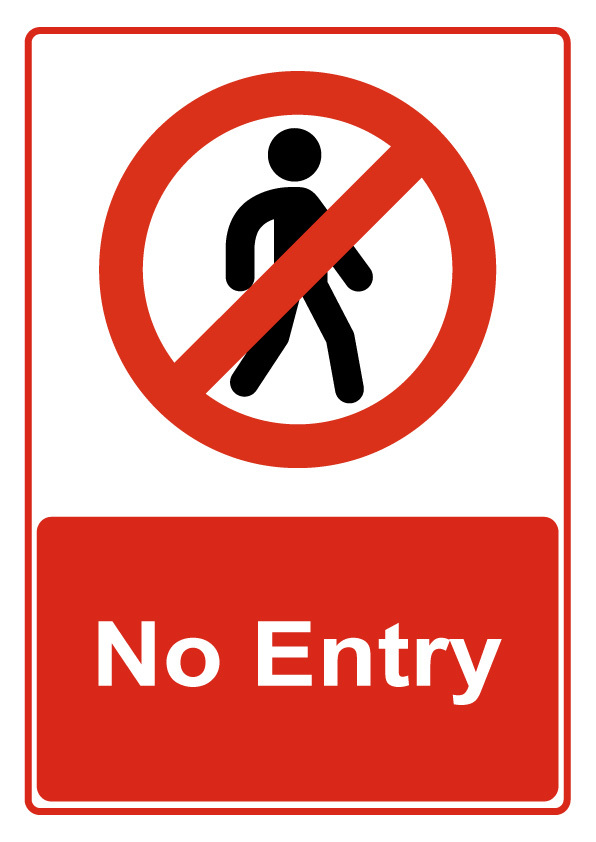 Entry Sign Clipart.
