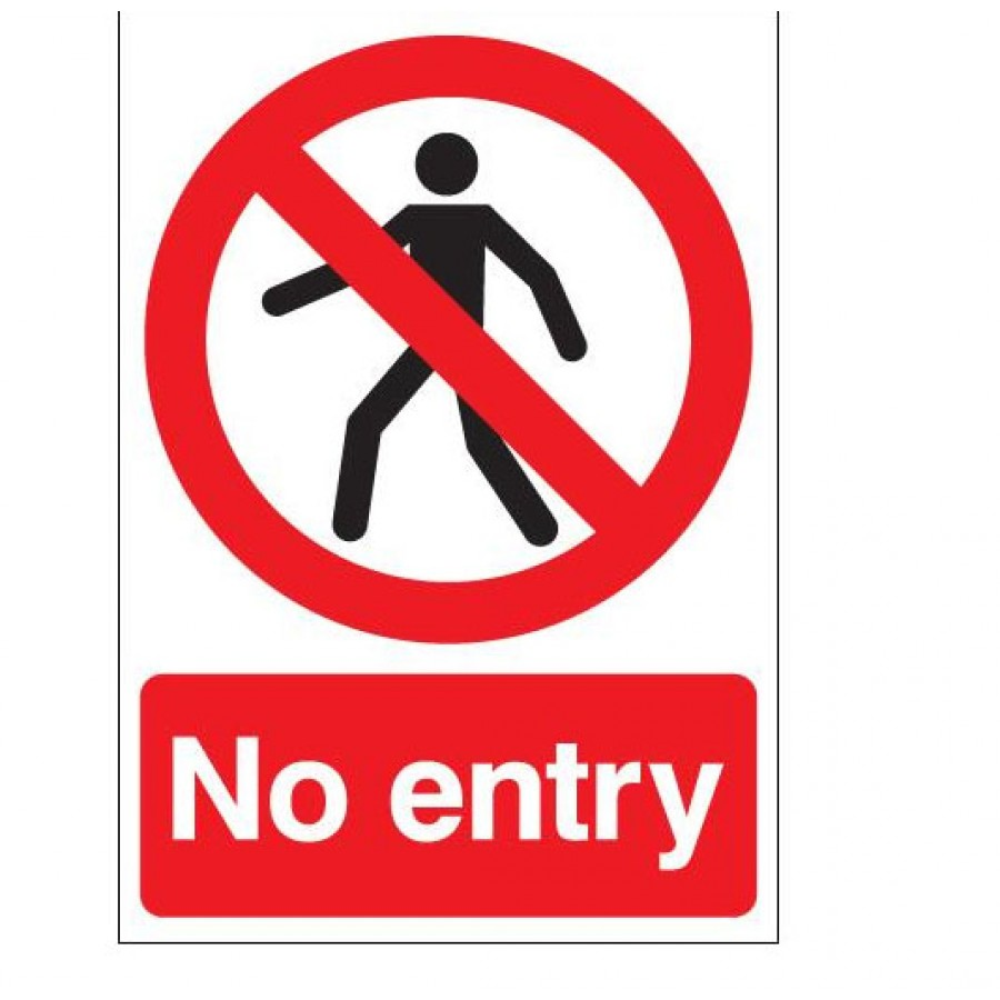 No entry clip art.