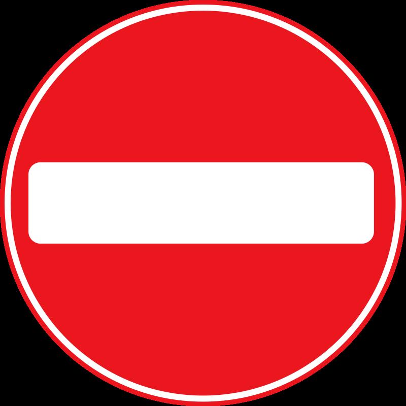 No entry clip art.