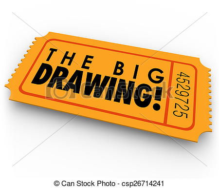 Drawing of The Big Drawing Raffle Ticket Contest Entry Win Big.