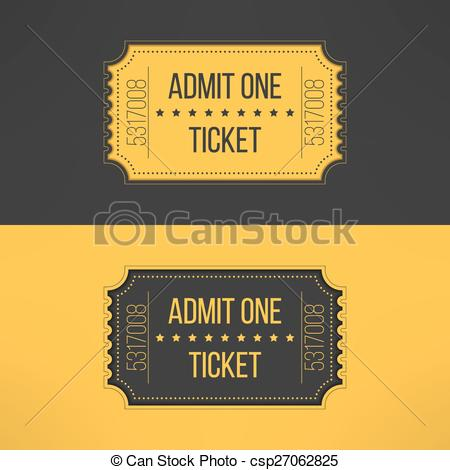 Vector Illustration of Entry ticket in stylish vintage style.