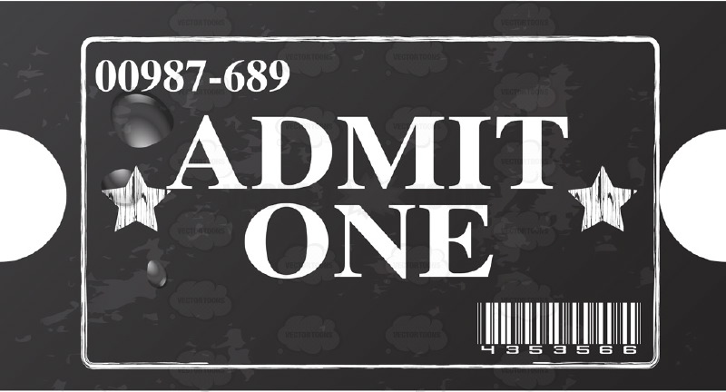 Admit one ticket clipart free to type in.
