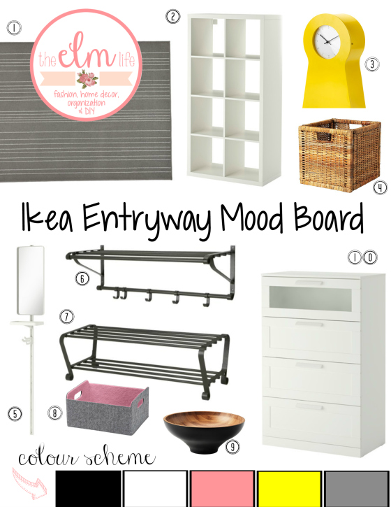 Ikea Entryway Mood Board.