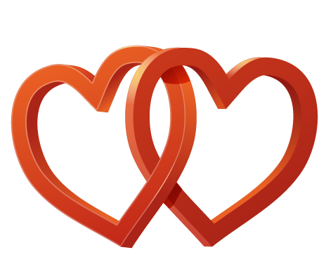 Two Hearts Entwined Clip Art.