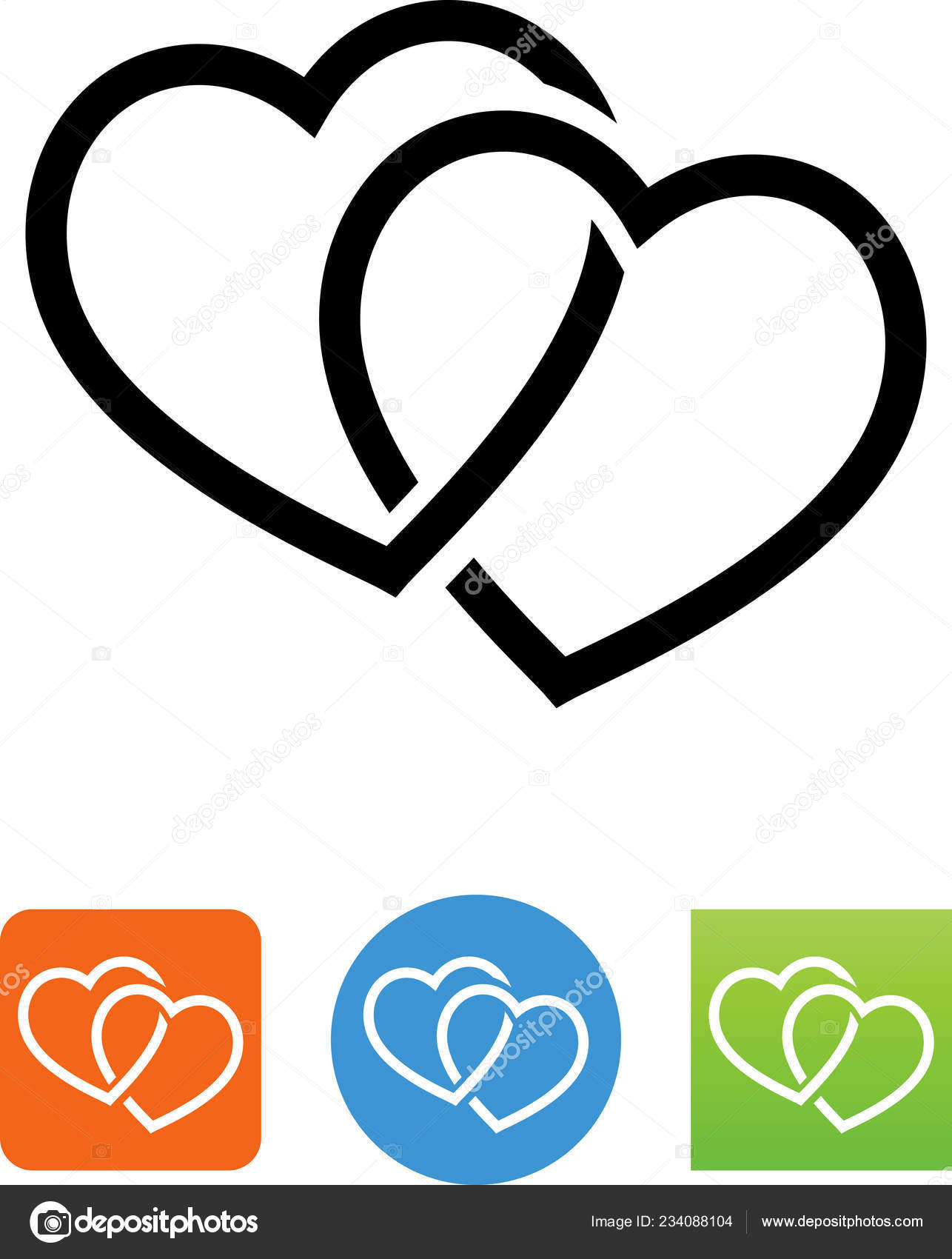 Clipart: intertwined hearts.