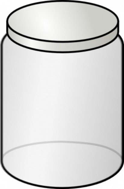 Glass Jar Clip Art Vector Free.