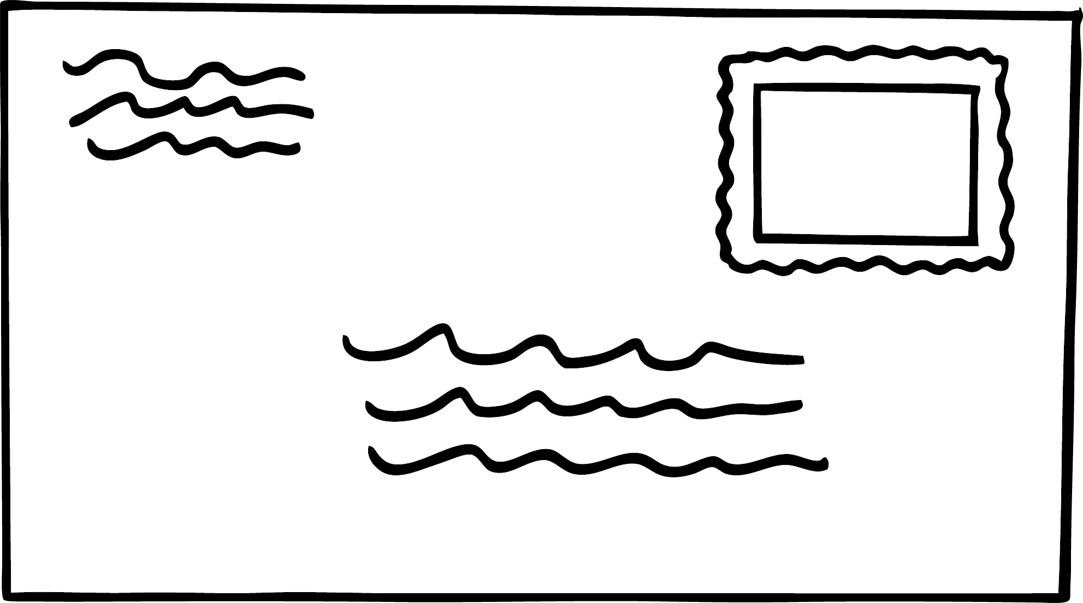 Envelope Black And White Clipart.