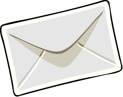 Invitation envelope clipart.
