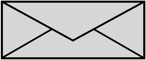 Black and white envelope.