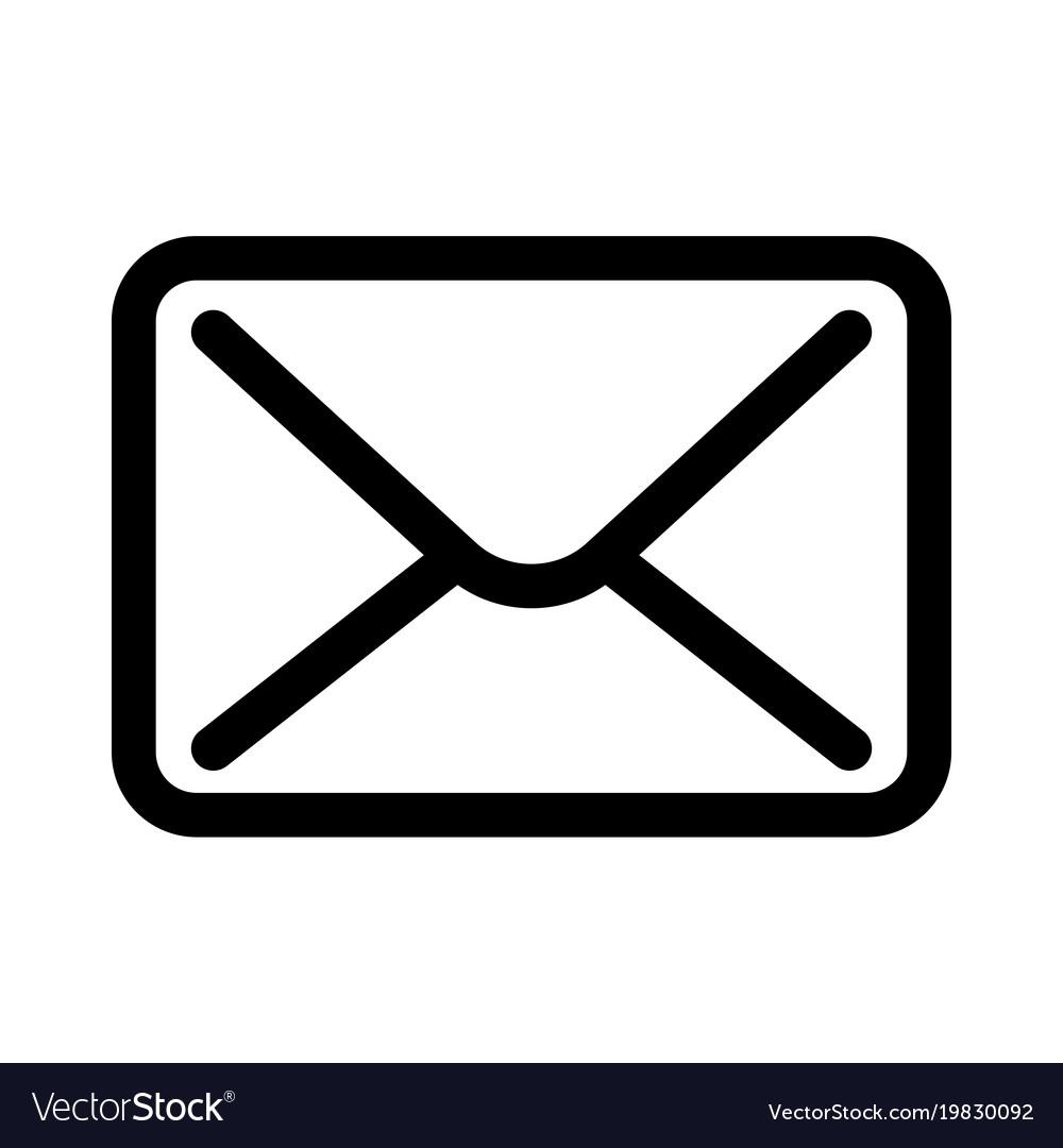 Mail envelope icon symbol of e.