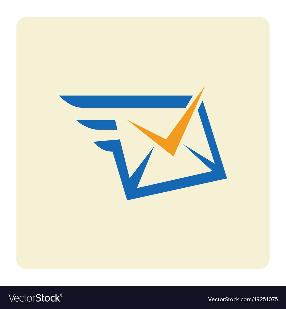 Check message envelope logo.