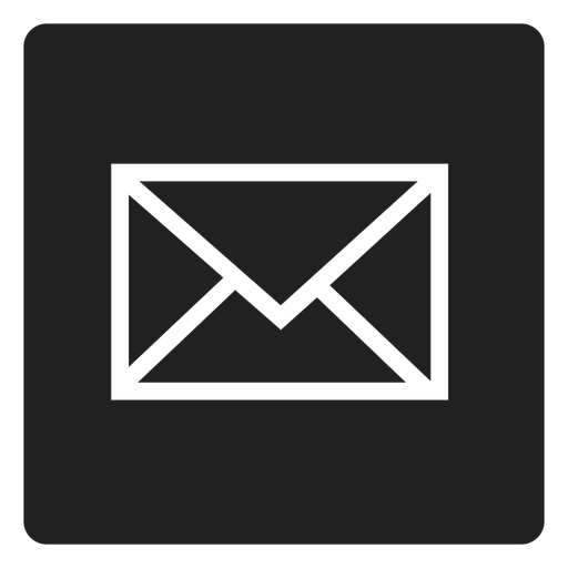 Black envelope square icon.