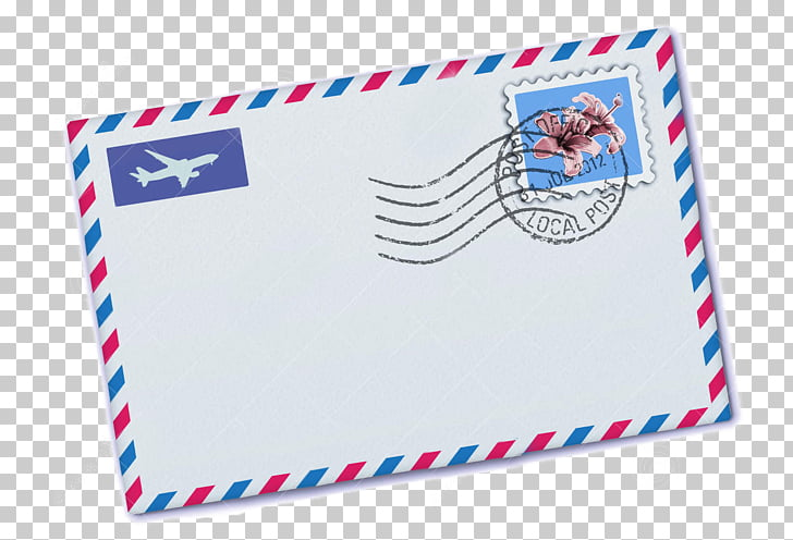 Paper Postage Stamps Airmail Envelope, Envelope PNG clipart.