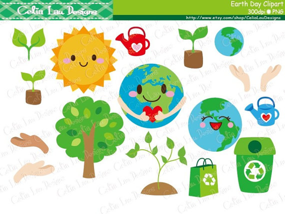 Earth Day Clipart , Environment Clipart, Recycle Clip art, World.
