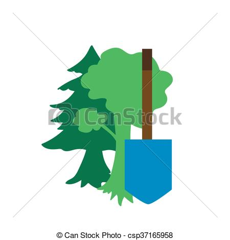 Clipart Vector of Environment Protection Icon.
