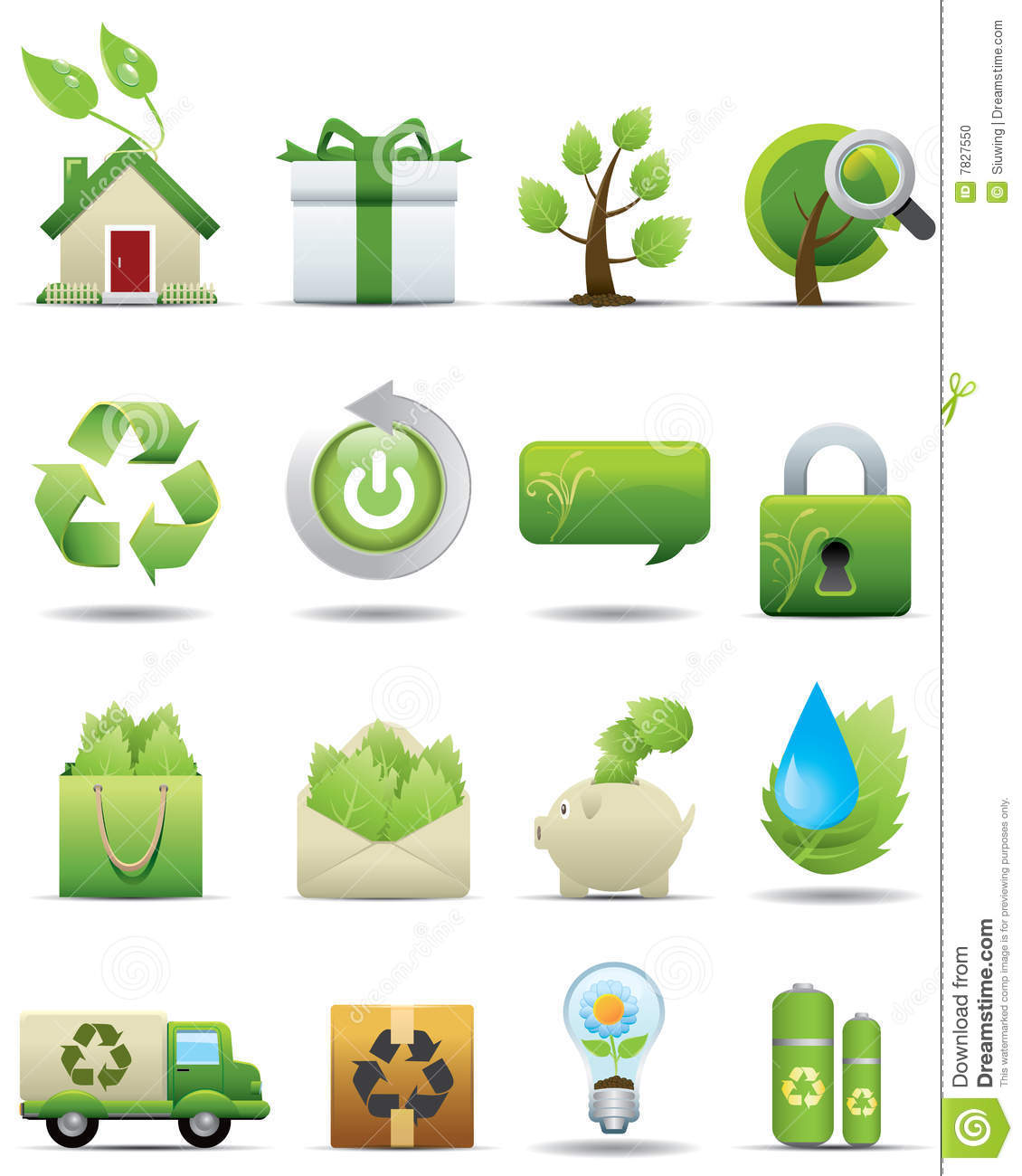Environment Protection Icon Set.