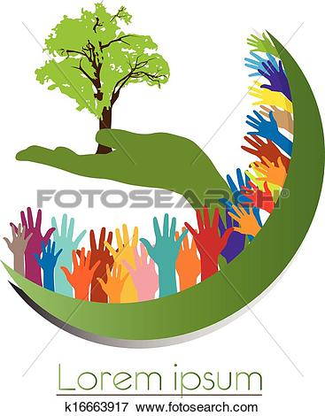 Clip Art of Concept of environment protection.
