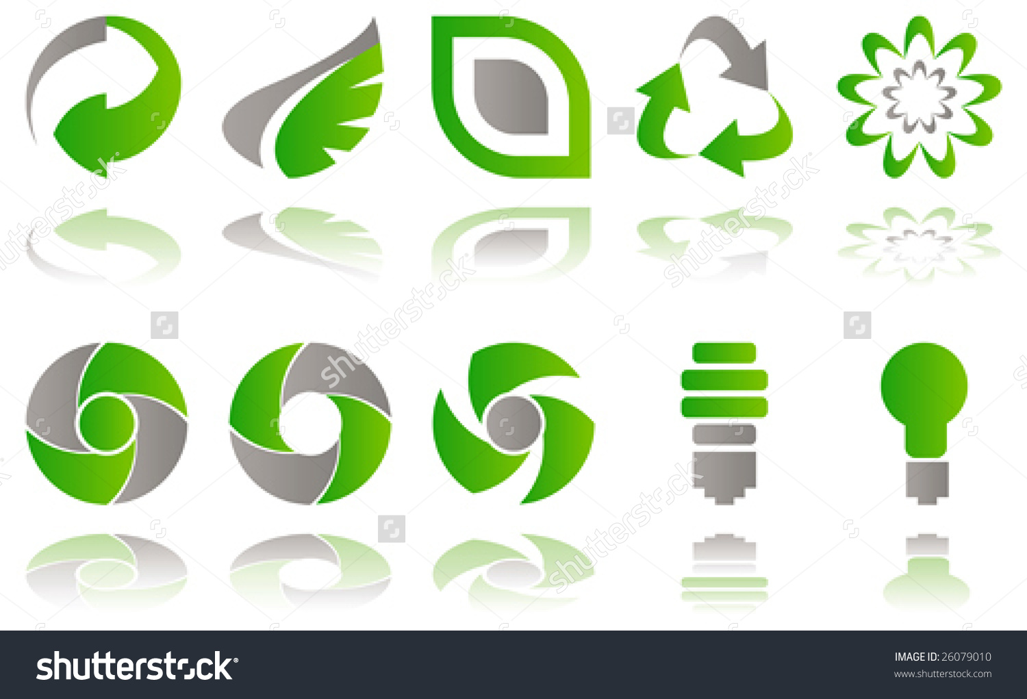 Vector Set Environmental Awareness Icons Isolated Stock Vector.