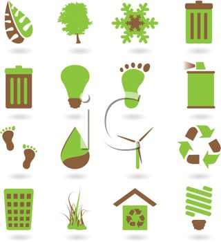 Collection of Environmental Awareness Icons.