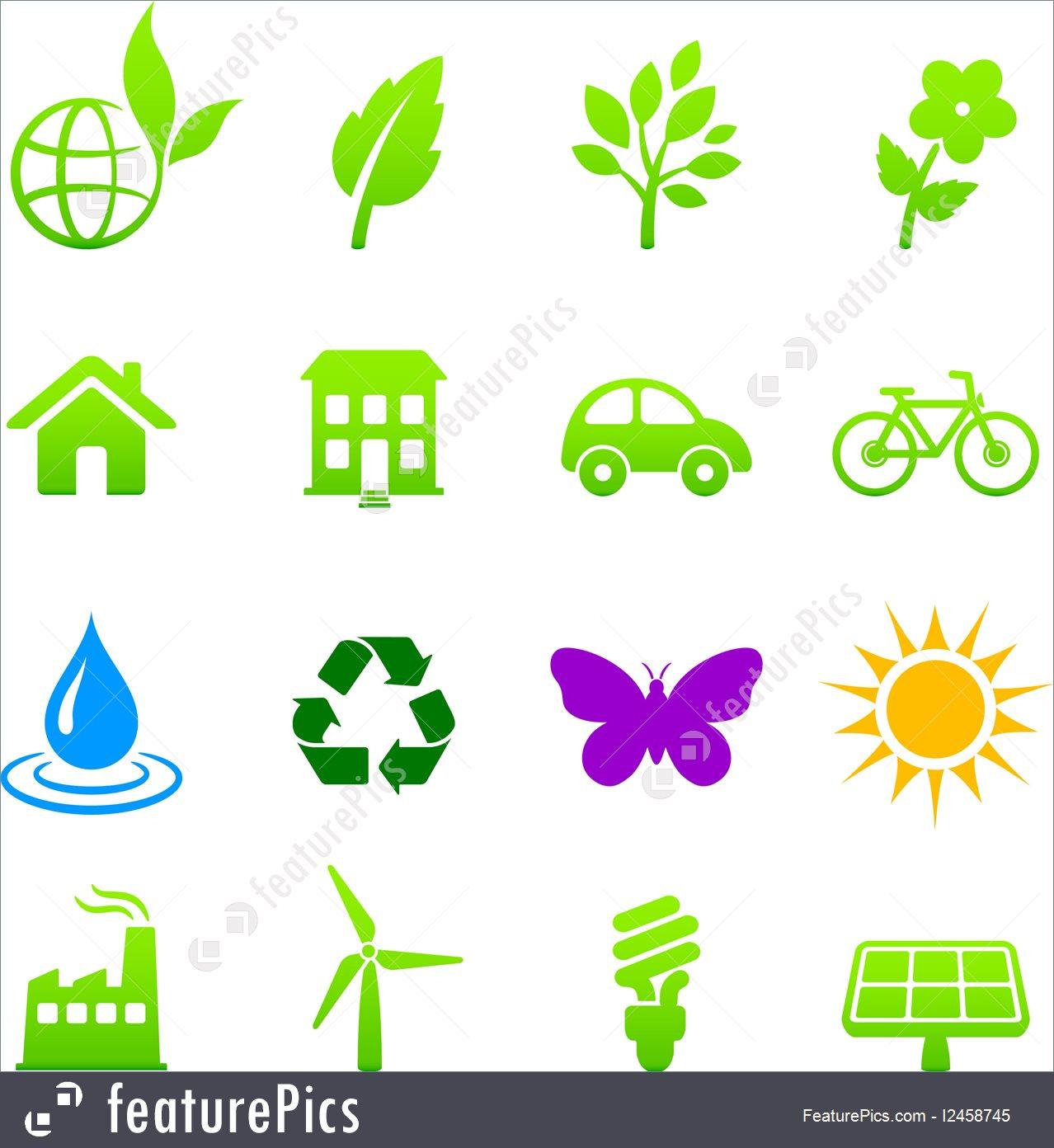Environment Concept: Environment Elements Icon Set.
