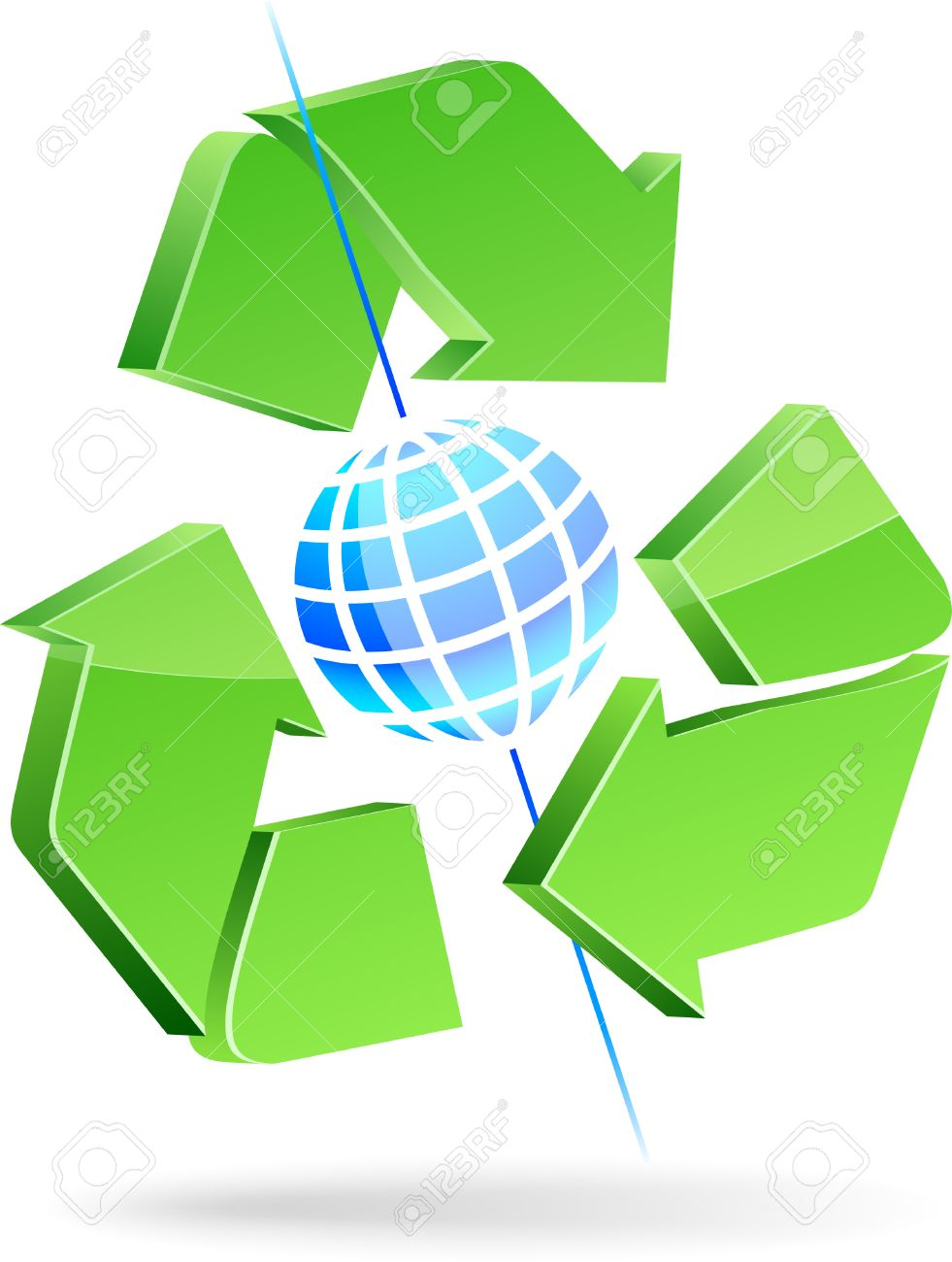 Save Earth Symbol. Vector Illustration. Royalty Free Cliparts.